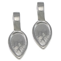Stainless Steel Glue on Bail, 316 Stainless Steel, Teardrop, 6.5x17mm, Hole:Approx 3mm, Inner Diameter:Approx 5x8mm, 500PCs/Bag, Sold By Bag