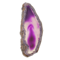 Natural Agate Druzy Pendant, Ice Quartz Agate, Teardrop, druzy style, 22-27mm, 64-68mm, Hole:Approx 1.5mm, Sold By PC