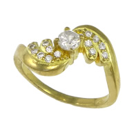 Cubic Zirconia Micro Pave Brass Finger Ring, plated, micro pave cubic zirconia, more colors for choice, nickel, lead & cadmium free, 12mm, US Ring Size:8, Sold By PC
