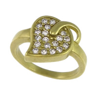 Cubic Zirconia Micro Pave Brass Finger Ring, Leaf, plated, micro pave cubic zirconia, more colors for choice, nickel, lead & cadmium free, 12mm, US Ring Size:5, Sold By PC