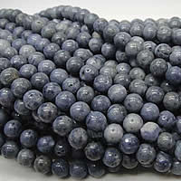 Natural Coral Beads, Round, different size for choice, blue, Hole:Approx 1-2mm, Length:Approx 16 Inch, Sold By Strand