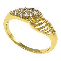 Cubic Zirconia Micro Pave Brass Finger Ring, plated, micro pave cubic zirconia, more colors for choice, nickel, lead & cadmium free, 7mm, US Ring Size:8, Sold By PC