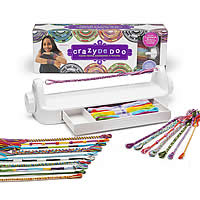 Loopdedoo Bracelet Kit, bracelet spinning loom tool & cotton thread, for children, 390x100x125mm, Sold By Set