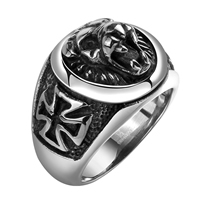 comeon® Finger Ring, Stainless Steel, different size for choice & blacken, 28x19mm, Sold By PC