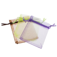 Organza Jewelry Pouches, solid color, more colors for choice, 7x9cm, Sold By PC