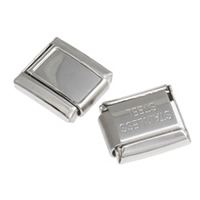 Stainless Steel Italian Charm Link, Rectangle, original color, 10x9x4mm, Sold By PC