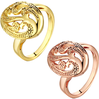 comeon® Finger Ring, Brass, Flat Oval, plated, different size for choice, more colors for choice, 18mm, Sold By PC