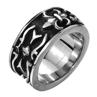 comeon® Finger Ring, Stainless Steel, different size for choice & blacken, 27x12mm, Sold By PC