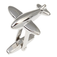 Stainless Steel Cufflink, Airplane, original color, 22x22x24mm, Sold By PC