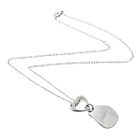 Stainless Steel Jewelry Necklace, oval chain, original color, 19x23x2mm, 16x15x5mm, 2x1.5mm, Length:Approx 18 Inch, Sold By Strand
