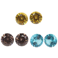 Cubic Zirconia Stones, Diamond Shape, different size for choice & rivoli back & faceted, more colors for choice, Grade AAA, 100PCs/Bag, Sold By Bag