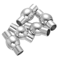 Brass Magnetic Clasp, platinum color plated, 8x15mm, Hole:Approx 4mm, Sold By PC