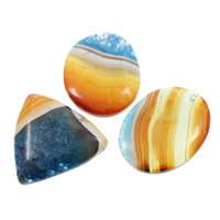 Ice Quartz Agate Pendants, natural, mixed, 34x63x6mm-44x43x7mm, Hole:Approx 2mm, 10PCs/Bag, Sold By Bag