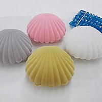 Earring Box, Velveteen, with Glue Film, Shell, more colors for choice, 65x55x30mm, Sold By PC