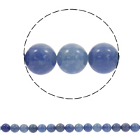 Blue Aventurine Bead, Round, natural, different size for choice, Hole:Approx 1mm, Length:Approx 15.5 Inch, Sold By Strand