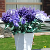 Artificial Flower Home Decoration, Plastic, with Spun Silk, Lavender, more colors for choice, 34cm, Sold By PC