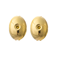 Gets® Jewelry Earring, Brass, Flat Oval, 18K gold plated, nickel, lead & cadmium free, 15x22mm, Sold By Pair