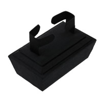Velveteen Bracelet Display, with Wood, black, 100x70x60mm, Sold By PC