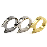 Zinc Alloy Finger Ring, plated, also can be used as self-defensive tool, mixed colors, 32x26x7mm, US Ring Size:10.5, Sold By PC