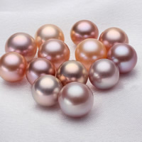 Natural Freshwater Pearl Loose Beads, Round, mixed colors, 10-11mm, Hole:Approx 0.8mm, Sold By PC
