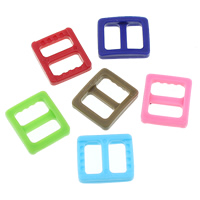 Plastic Buckle, more colors for choice, 17x14x3.5mm, Hole:Approx 11x5mm, Sold By PC