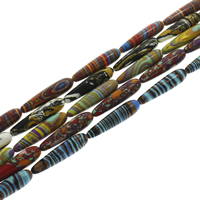 Mosaic Turquoise Beads, Teardrop, plated, different size for choice, more colors for choice, Hole:Approx 1-1.5mm, Length:Approx 15.5 Inch, Sold By Strand