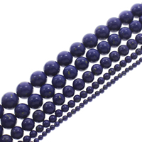 Synthetic Lapis Lazuli Bead, Round, different size for choice, Hole:Approx 1-1.5mm, Length:Approx 15.5 Inch, Sold By Strand