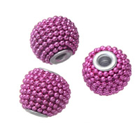 Indonesia Jewelry Beads, with Plastic & Zinc Alloy, antique silver color plated, 15mm, Hole:Approx 3.5mm, Sold By PC