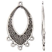 Zinc Alloy Chandelier Components, Horse Eye, antique silver color plated, with loop, lead & cadmium free, 15x35x1mm, Hole:Approx 1mm, Approx 50PCs/Bag, Sold By Bag