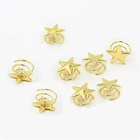 Hair Spinners, Zinc Alloy, Star, gold color plated, 20x20mm, Sold By PC