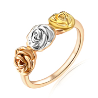 Zinc Alloy Finger Ring, Flower, plated, different size for choice, 7mm, Sold By PC