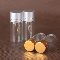 Glass Bead Container, with Aluminum, Column, plated, different size for choice, more colors for choice, Sold By PC