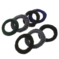 Woven Linking Rings, Wool, with Iron, Donut, handmade, mixed colors, 50x6mm, Hole:Approx 31mm, Sold By PC