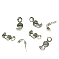 Brass Bead Tips, plated, more colors for choice, nickel, lead & cadmium free, 4x7mm, Hole:Approx 1mm, 10000PCs/Bag, Sold By Bag