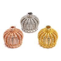 Brass Tassel Cap Bail, Crown, plated, different size for choice & micro pave cubic zirconia, more colors for choice, lead & cadmium free, Hole:Approx 2.5mm, Sold By PC