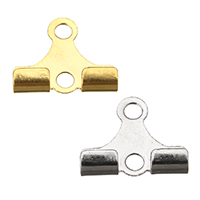 Stainless Steel Cord Tips, plated, more colors for choice, 10x8.5x2mm, Hole:Approx 1.5mm, Sold By PC