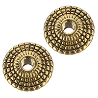 Zinc Alloy Jewelry Beads, antique gold color plated, 8x8x3mm, Hole:Approx 1.5mm, Sold By PC