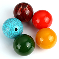 Imitation Gemstone Resin Beads, Round, more colors for choice, 30mm, Hole:Approx 3mm, Sold By PC