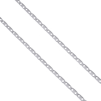 Stainless Steel Mariner Chain, original color, 4x1.5x0.5mm, Sold By m