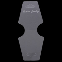 Plastic Necklace & Bracelet Display Card, with letter pattern, 51x124mm, 1000PCs/Bag, Sold By Bag