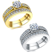 Newegg® Jewelry Set, Brass, plated, different size for choice & micro pave cubic zirconia & for woman, more colors for choice, 6mm, 2PCs/Set, Sold By Set