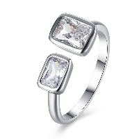 comeon® Finger Ring, Brass, platinum plated, adjustable & for woman & with rhinestone, 9mm, US Ring Size:8, Sold By PC