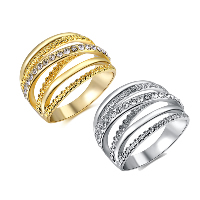 Newegg® Finger Ring, Zinc Alloy, plated, different size for choice & for woman & with rhinestone, more colors for choice, Sold By PC