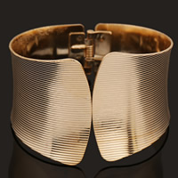 Iron Cuff Bangle, gold color plated, lead & cadmium free, 50mm, Inner Diameter:Approx 60mm, Length:Approx 7 Inch, Sold By PC