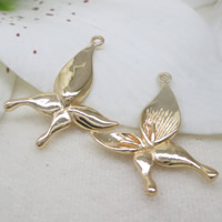 Brass Peg Bail, Flower, 24K gold plated, lead & cadmium free, 20x25mm, Hole:Approx 1-2mm, Inner Diameter:Approx 0.7mm, Sold By PC