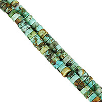 Natural African Turquoise Beads, Flat Round, different size for choice, Hole:Approx 0.7mm, Length:Approx 16 Inch, Sold By Strand