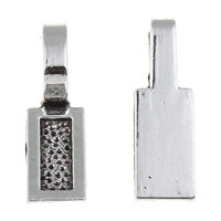 Zinc Alloy Glue on Bail, Rectangle, antique silver color plated, lead & cadmium free, 8x26x7mm, Hole:Approx 5x8mm, 100G/Bag, Sold By Bag