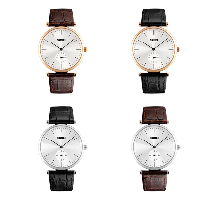 comeon® Men Jewelry Watch, Cowhide, with Glass & Zinc Alloy, Chinese movement, plated, for man, more colors for choice, 37mm, Length:Approx 9.6 Inch, Sold By PC