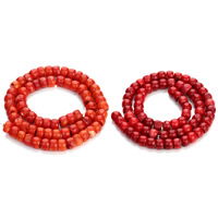 Natural Coral Beads, Drum, more colors for choice, 6x8.5mm, Hole:Approx 1mm, Length:Approx 15.5 Inch, Approx 65PCs/Strand, Sold By Strand