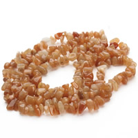 Red Aventurine Bead, Nuggets, 5-8mm, Hole:Approx 1.5mm, Length:Approx 31 Inch, Approx 120PCs/Strand, Sold By Strand